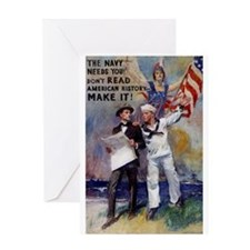 The Navy Needs You Greeting Card