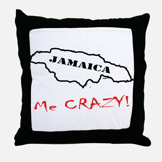 Jamaica me CRAZY! - Dark Throw Pillow