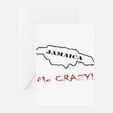 Jamaica me CRAZY! - Dark Greeting Cards (Pk of 20)