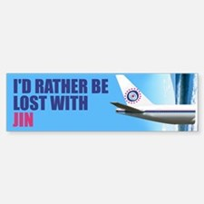 I'd rather be lost with Jin Bumper Stickers
