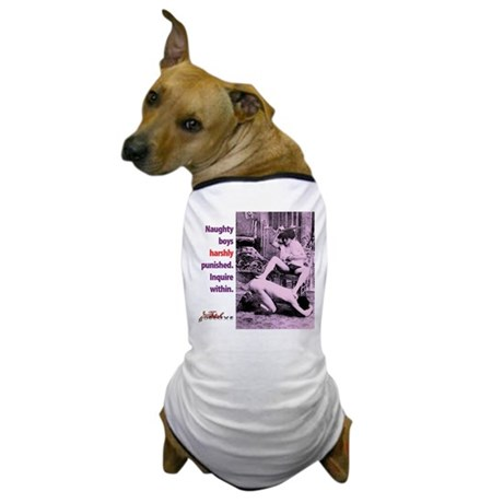 Naughty Boys Dog T-Shirt