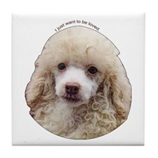 Miniature Poodle Tile Coaster