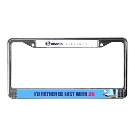 I'd rather be lost with Jin License Plate Frame