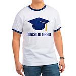 Blue Nursing Grad Ringer T