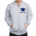Blue Nursing Grad Zip Hoodie