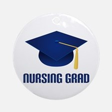 Blue Nursing Grad Ornament (Round)