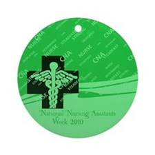 Cool Cna nurses week Ornament (Round)