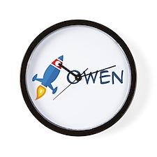 Owen Rocket Ship Wall Clock