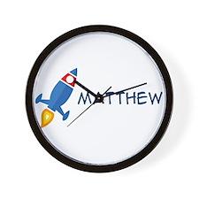 Matthew Rocket Ship Wall Clock