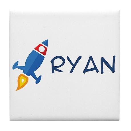 Ryan Rocket Ship Tile Coaster