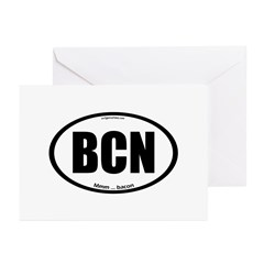 BCN auto decal bacon Greeting Cards (Pk of 10)