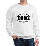 CHOC auto decal chocolate Sweatshirt
