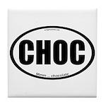 CHOC auto decal chocolate Tile Coaster