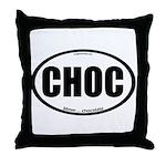 CHOC auto decal chocolate Throw Pillow