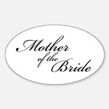 Mother of the Bride (FF) Oval Decal