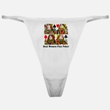 Real Women Play Poker Classic Thong