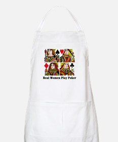 Real Women Play Poker BBQ Apron