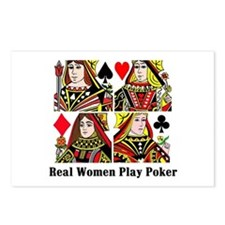 Real Women Play Poker Postcards (Package of 8)