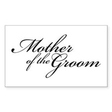 Mother of the Groom (FF) Rectangle Decal