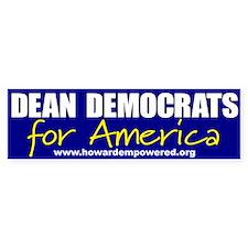 Dean Democrats Bumper Bumper Sticker