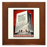 Books Are Weapons Poster Art Framed Tile