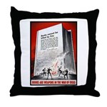 Books Are Weapons Poster Art Throw Pillow