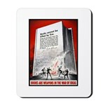 Books Are Weapons Poster Art Mousepad