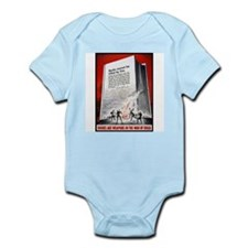 Books Are Weapons Poster Art Infant Creeper