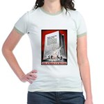 Books Are Weapons Poster Art Jr. Ringer T-Shirt