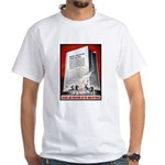 Books Are Weapons Poster Art White T-Shirt