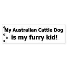 Australian Cattle Dog Furry Kid Bumper Bumper Sticker