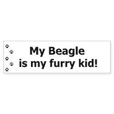 Beagle Furry Kid Bumper Stickers