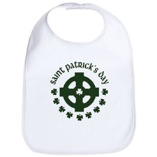 Cross and Shamrocks Bib