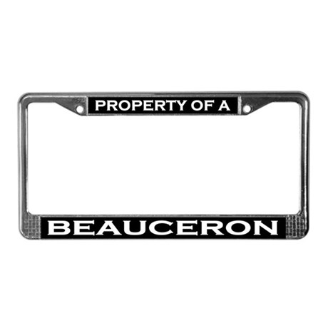 Property of Beauceron License Plate Frame