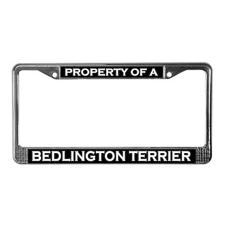 Property of Bedlington Terrier License Plate Frame