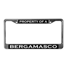 Property of Bergamasco License Plate Frame
