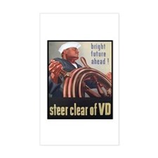 Steer Clear of VD Poster Art Rectangle Decal