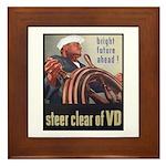 Steer Clear of VD Poster Art Framed Tile