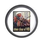 Steer Clear of VD Poster Art Wall Clock