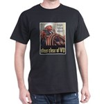 Steer Clear of VD Poster (Front) Black T-Shirt