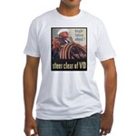 Steer Clear of VD Poster (Front) Fitted T-Shirt