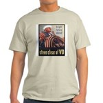 Steer Clear of VD Poster Art Ash Grey T-Shirt