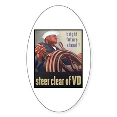 Steer Clear of VD Poster Art Oval Decal