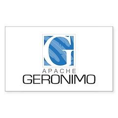 Apache Geronimo Rectangle Decal