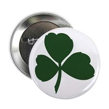 Cross and Shamrocks Button