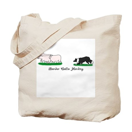 Border Collie Herding Tote Bag