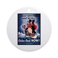 Don't Shiver Winter Poster Art Ornament (Round)