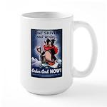 Don't Shiver Winter Poster Art Large Mug