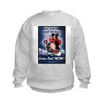 Don't Shiver Winter Poster (Front) Kids Sweatshirt