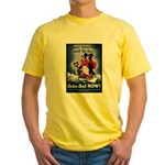 Don't Shiver Winter Poster (Front) Yellow T-Shirt